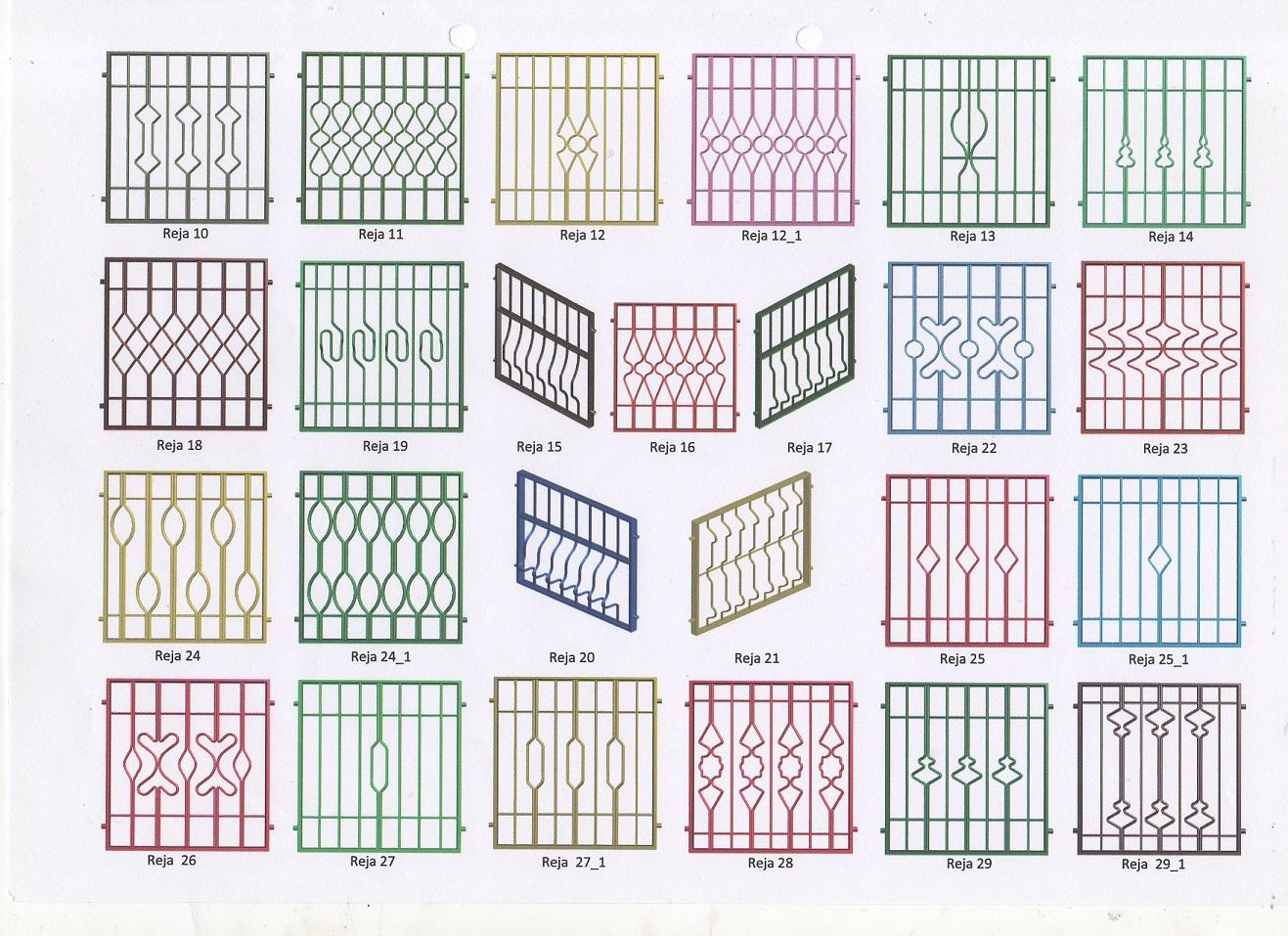 Rejas fijas para puertas y ventanas rejas y ballestas for Modelos de rejas de fierro para puertas