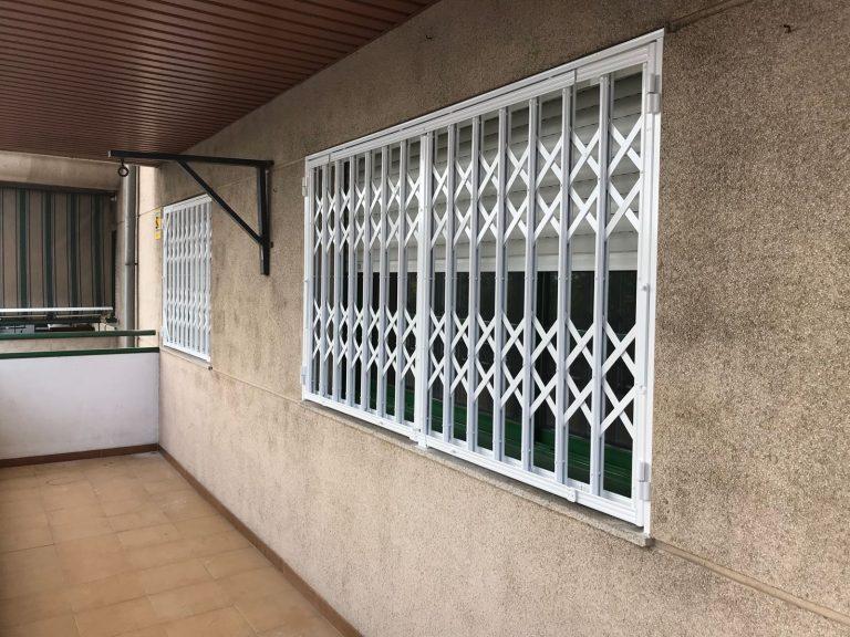 Instalación de 5 rejas de ballesta en Mataró (Febrero 2018)